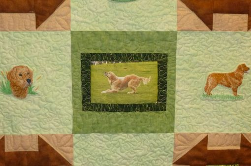 Custom Made Custom Golden Retriever Quilt