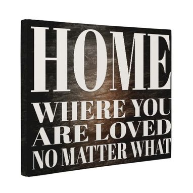Custom Made Home Where You Are Loved Canvas Wall Art