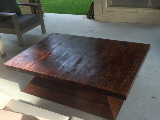 Custom Made Pyramid Base Coffee Table