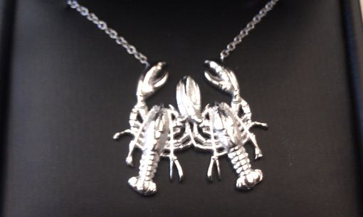 Custom Made Platinum Lobster Necklace
