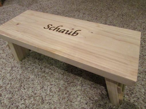 Custom Made Kids Folding Step Stool