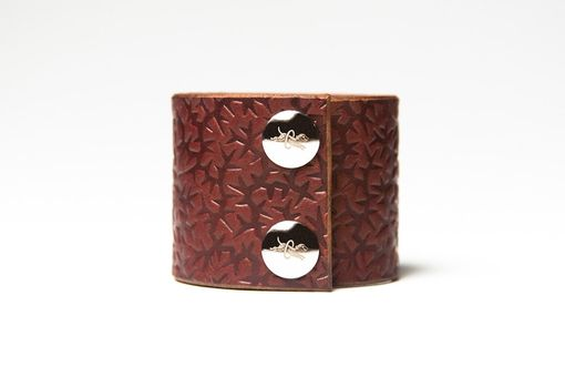 Custom Made Chestnut Brown Leather Cuff - 2 Inches Wide