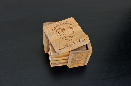 Custom Made Custom Bamboo Coasters, Custom Engraved Coasters --Cst-Bam-Harrison Stephanie