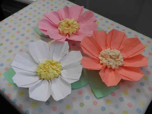 Custom Made Origami Flower Gift Bow - Cosmos