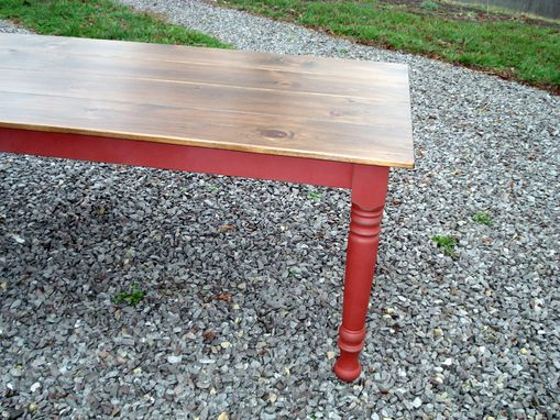 Custom Made 6 Foot Smooth Top Farm Table