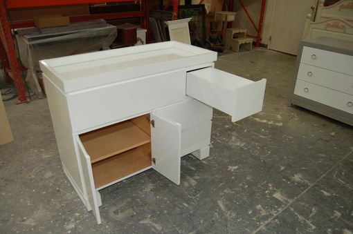 Custom Made Puzzle Piece Dresser & Changing Table