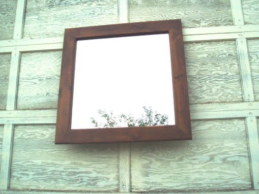 Custom Made Square Mirror (28 X 36 4 Inch Frame)