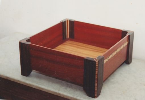 Custom Made Exotic Wood Box