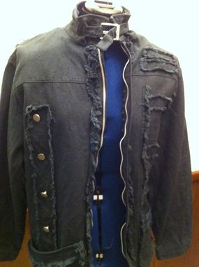 Custom Made Rock Star Punk Denim Jacket