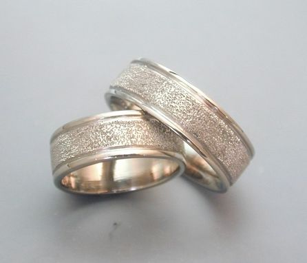Custom Made Stippled Texture Rings