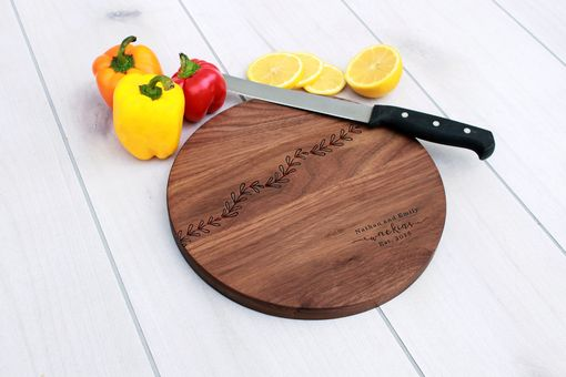 Custom Made Personalized Cutting Board, Engraved Cutting Board, Custom Wedding Gift – Cbr-Wal-Watkinsleaf