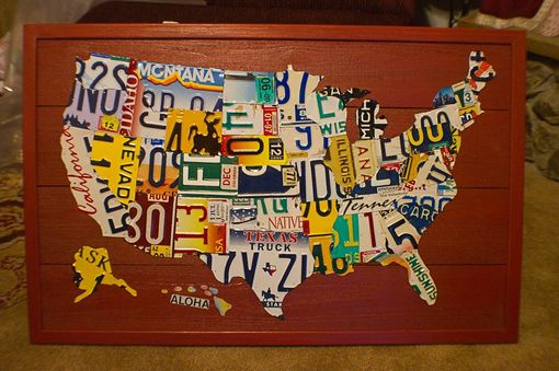 Custom Made Small License Plate Map