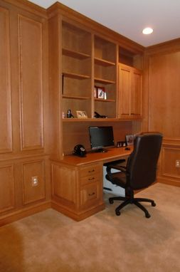 Custom Made Paneled Cherry Home Office With French Doors