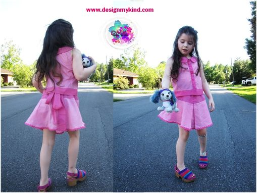 Custom Made Gingham Toddlers & Girls Boutique Blouse & Skirt Set Or Separates