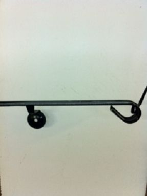 "Custom Made 4'-6"" Wrought Iron Wall Mounted Handrail"