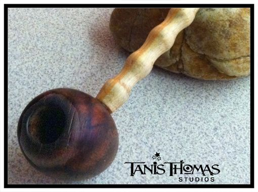Custom Made Handmade Reclaimed Hardwood Pipe By Tanis Thomas (Signed)