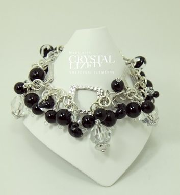 Custom Made Black Berry And Ice Bracelet