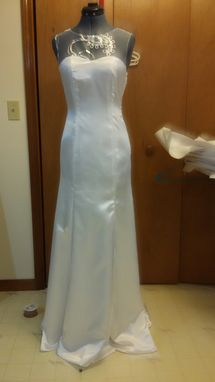 Custom Made Open Backed Lace Wedding Gown