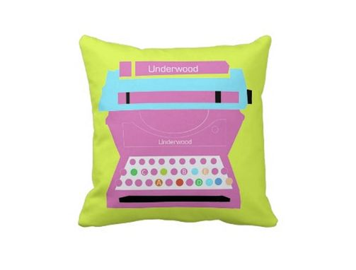 Custom Made Typewriter Pillow - Baby Room Pillow - Vintage Typing Machine Decor