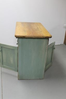 Custom Made Rustic Style 4 Door Server Used As Kitchen Island