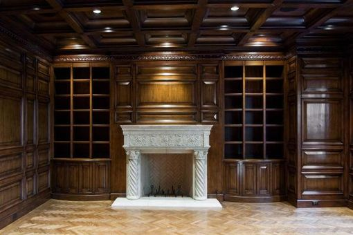 Custom Made Paneled Library