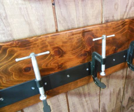 Custom Made Industrial C Clamp Coat Rack