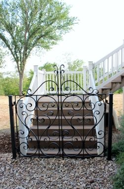Custom Made Bevel Scroll Gate