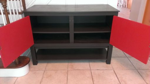 Custom Made Modern Oriental Entryway Console Cabinet
