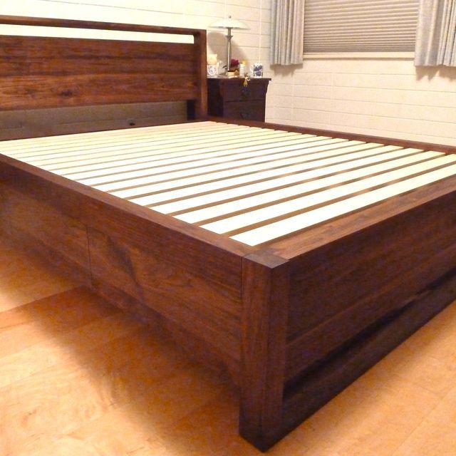 Custom Walnut Queen Storage Bed By Culbertson Design