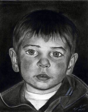Custom Made Portrait Drawing Of Boy