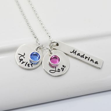 Custom Made Personalized Grandmother Necklace Mommy Necklace