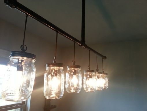 Custom Made Mason Jar Chandelier