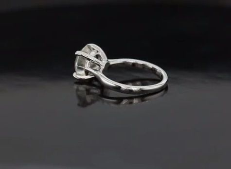 Custom Made Stunning Cathedral Solitaire