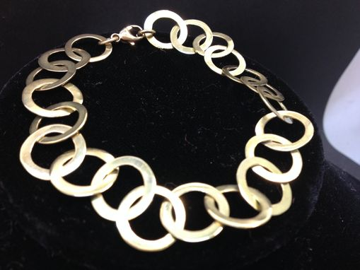Custom Made Gold Chain Bracelet