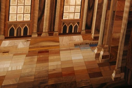 Custom Made Rare Wood Marquetry Artwork From World Renowned Hungarian Master