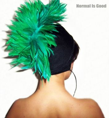 Custom Made Women Cap With Feather
