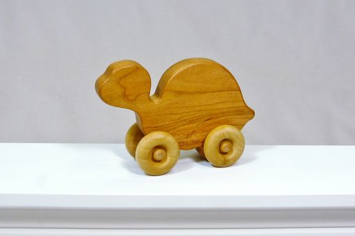 Custom Made Wooden Toy Turtle - Customized With Name