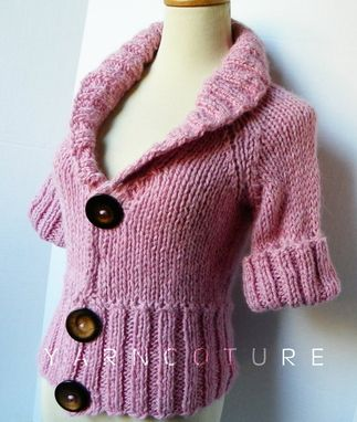 Custom Made The Jacket Shrug - Luxurious Baby Alpaca - In Peony Pink / Fall Winter Fashion