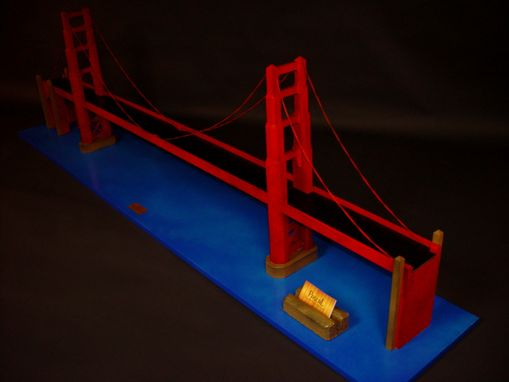 Custom Made Miniature Golden Gate Bridge