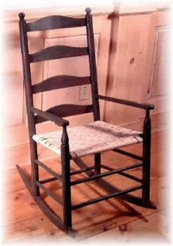 Custom Made Pennsylvania Ladderback Rocking Chair