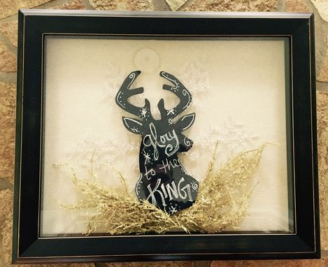 Custom Made Buck Shadow Box