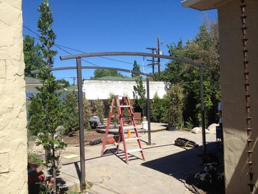 Custom Made Arched Steel Trellis