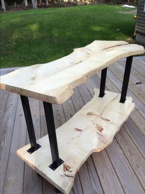 Custom Made Live Edge Rustic Modern Tv Stand
