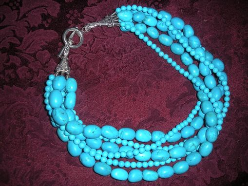 Custom Made Grande Turquoise Multi Strand Necklace