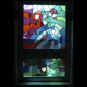 "Custom Made ""Angels Lead You"" Patient Room Window, Mercy Hospice, Scranton Pa"