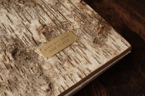 Custom Made Rustic Birch Wood Wedding Guest Book