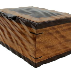 Sculpted Men S Valet Watch Box Solid Sapele And Wenge By Nicholas Jones