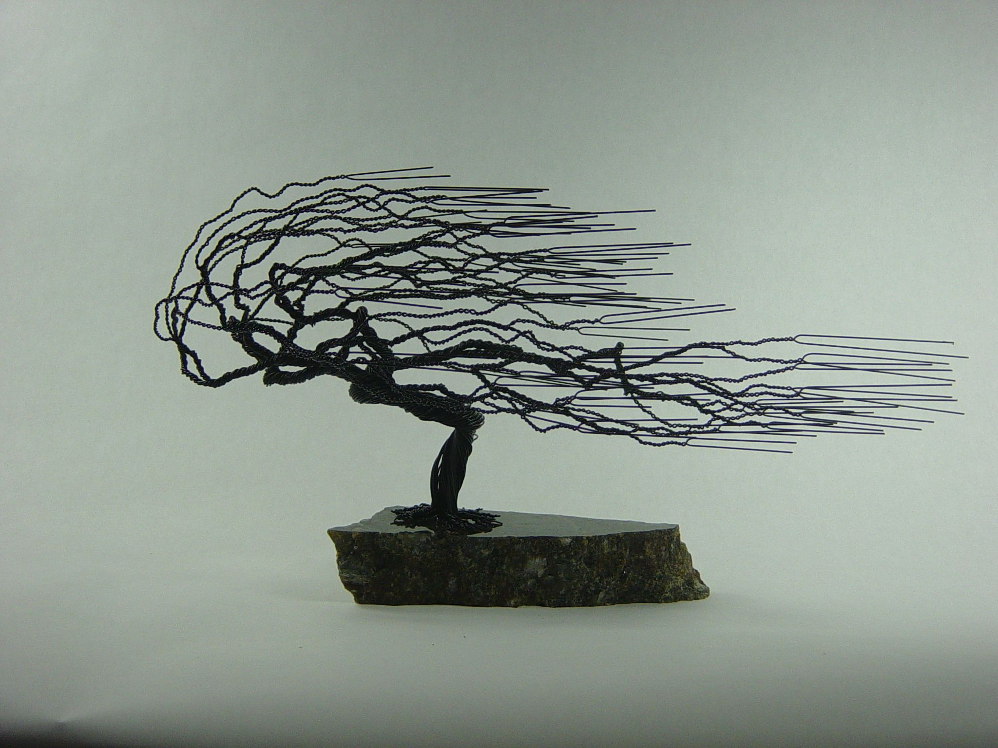 Buy A Hand Made Small Windswept Wire Bonsai Tree Sculpture