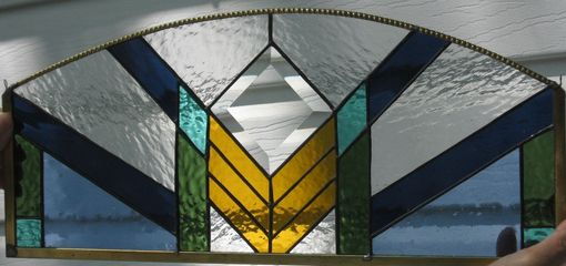 Custom Made Southwest Style Stained Glass Panel