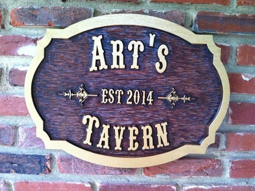 Custom Made Custom Carved Tavern Sign